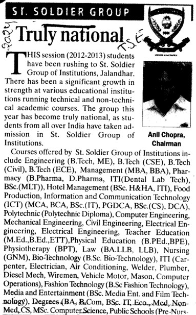 Chairman Anil Chopra speaks on Truly National (St Soldier Group)