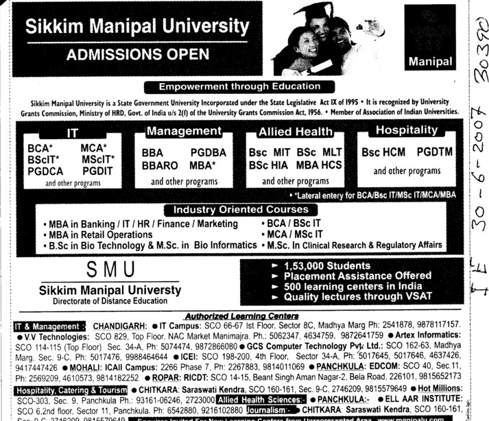 sikkim manipal university of health medical and technological sciences