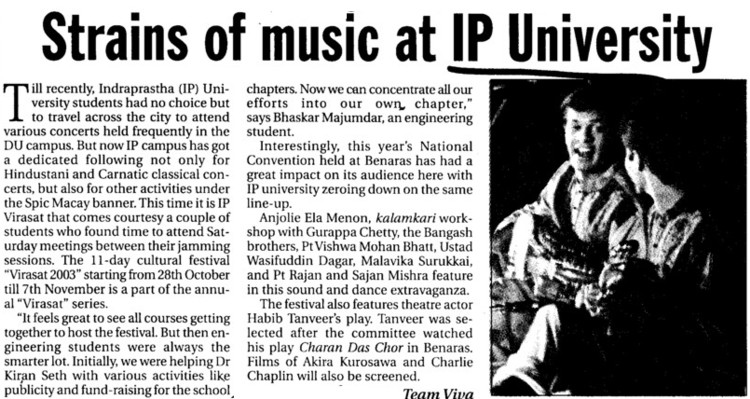 Strains of music at IP University (Guru Gobind Singh Indraprastha University GGSIP)