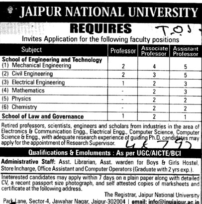 Asstt Professor (Jaipur National University)