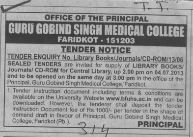 Library books (Guru Gobind Singh Medical College)