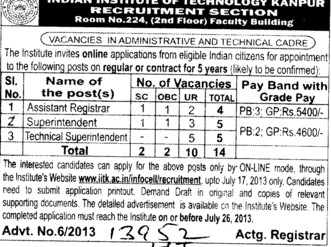 Superintendent (Indian Institute of Technology (IITK))