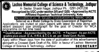 Director (Lachoo Memorial College of Science and Technology)