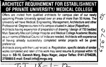 Qualified Architects (Maharaj Vinayak Global University)