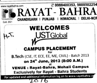 BTech in Civil Engg (Rayat and Bahra Group)