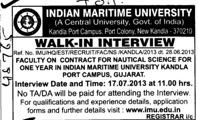 Faculty for Nautical Sciences (Indian Maritime University)