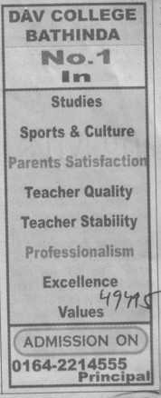 Best in Teacher quality and Professionalism (MG DAV College)