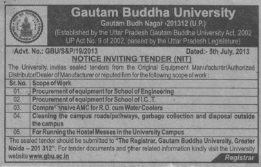 Hostel messes services (Gautam Buddha University (GBU))