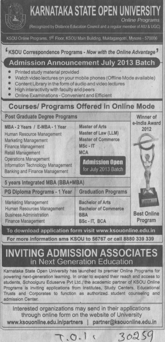 Master of Laws (Karnataka State Open University KSOU)