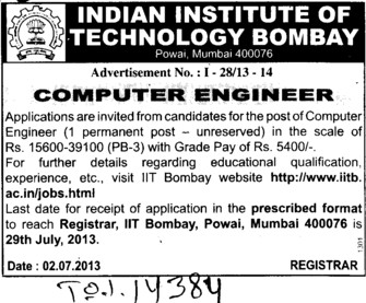Computer Engineer (Indian Institute of Technology (IITB))
