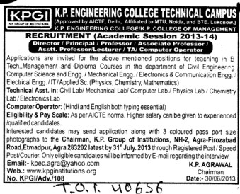 TA and Computer operator (KP Engineering College)