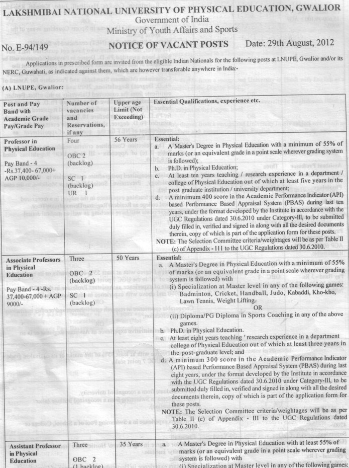 Asso Professor (Lakshmibai National University of Physical Education (LNUPE))
