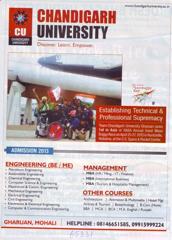 BE in Petroleum Engg (Chandigarh University)