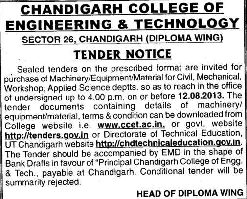 Civil works (Chandigarh College of Engineering and Technology (CCET))