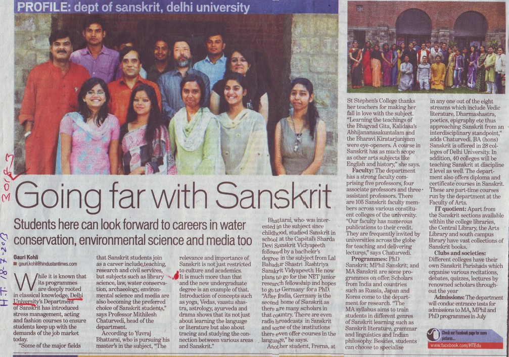 Going far with Sanskrit (Delhi University)