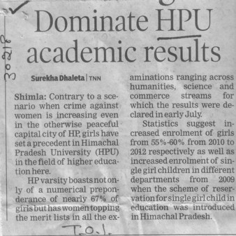 Dominate HPU academic results (Himachal Pradesh University)