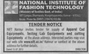 Testing lab equipments (National Institute of Fashion Technology (NIFT), Kannur)