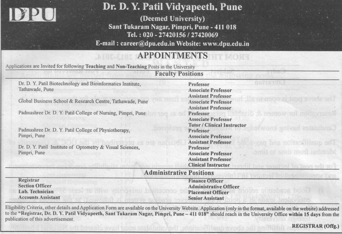 Clinical Instructor (Dr DY Patil University)