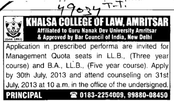 Animal Science foundation courses in law