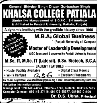 MBA and MSc IT (Khalsa College)
