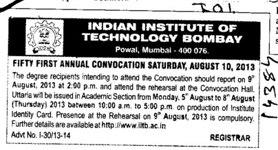 Annual Convocation (Indian Institute of Technology (IITB))