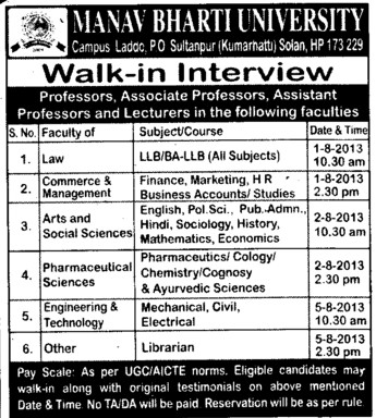 Asstt Professor and Lecturer (Manav Bharti University (MBU))