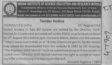 FACS (Indian Institute of Science Education and Research (IISER))