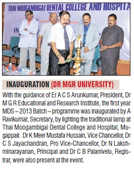 Inauguration of Dr MGR University (Dr MGR Educational and Research Institute University)