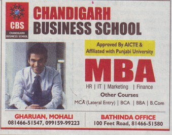 MBA Course (Chandigarh Business School)