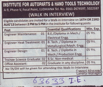 Engg Design (Institute for Autoparts and Hand Tools Technology)