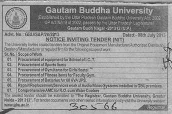 Gym items (Gautam Buddha University (GBU))
