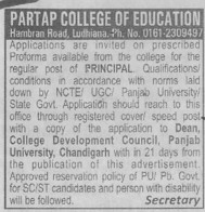 Principal (Partap College of Education)