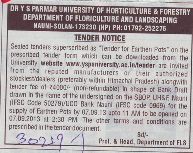 Earthen Pots (Dr Yashwant Singh Parmar University of Horticulture and Forestry)