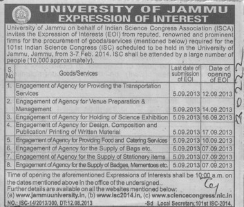 Transportation services (Jammu University)