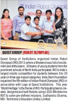 8th Indian Robot Olympiad (Quest Group of Institutions)