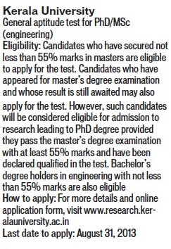 General Aptitude test for PhD and MSc (Kerala University)