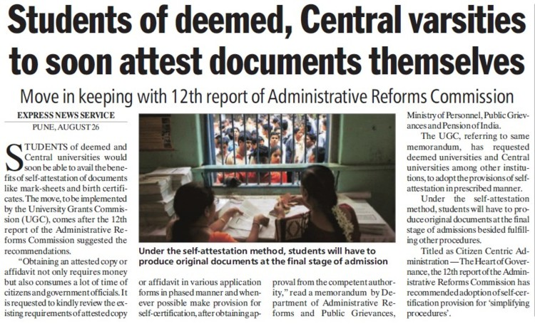 Central Varsities soon attest documents themselves (University Grants Commission (UGC))