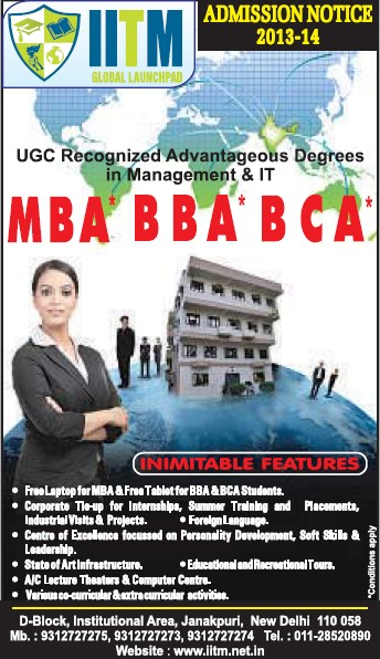 MBA, BBA and BCA (Indian Institute Of Telecom Management (IITM))