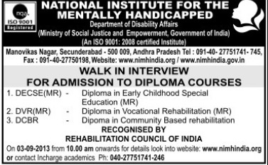 Diploma in Vocational Rehabilitation (National Institute for the Mentally Handicapped (NIMH))