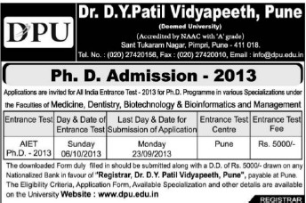 PhD Course (Dr DY Patil University)