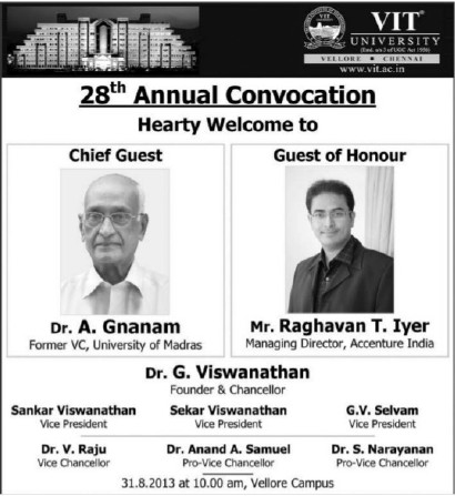 28th Annual Convocation (VIT University)