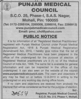 Punjab Medical Registration (PUNJAB MEDICAL COUNCIL)
