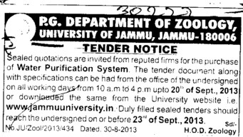Water Purification system (Jammu University)