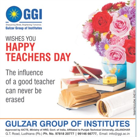 GGI wishes teachers day (Gulzar Group of Instituties Khanna)