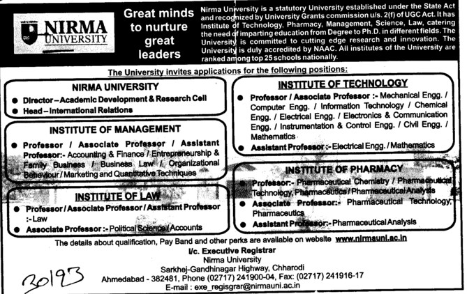Director and Asso Professor (Nirma University)