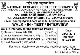 Research Asso (National Research Centre for Grapes (NRCG))
