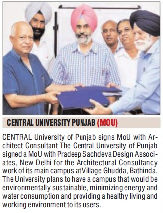 CUoP signs MoU with Architect Consultant (Central University of Punjab)