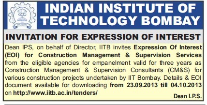 Construction Management and Supervision Services (Indian Institute of Technology (IITB))