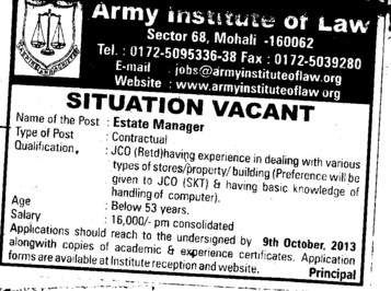 Estate Manager (Army Institute of Law)