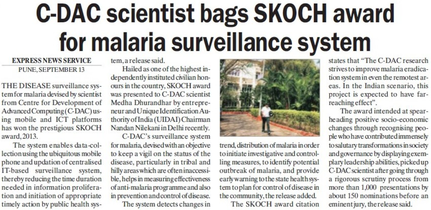 malaria surveillance The potential role of mobile tools to strengthen and extend the reach of disease  surveillance systems is widely recognized malaria eradication relies on timely.